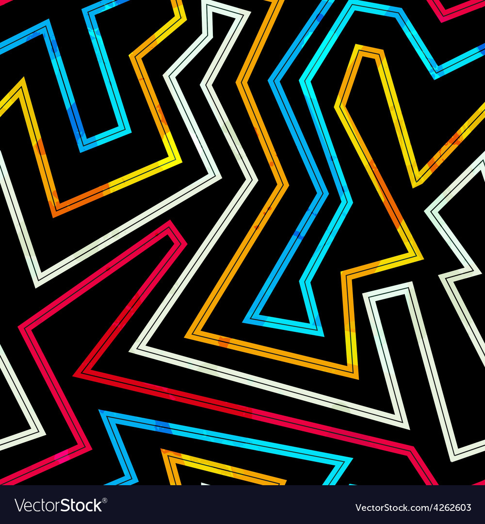 Neon stripes seamless pattern vector | Price: 1 Credit (USD $1)