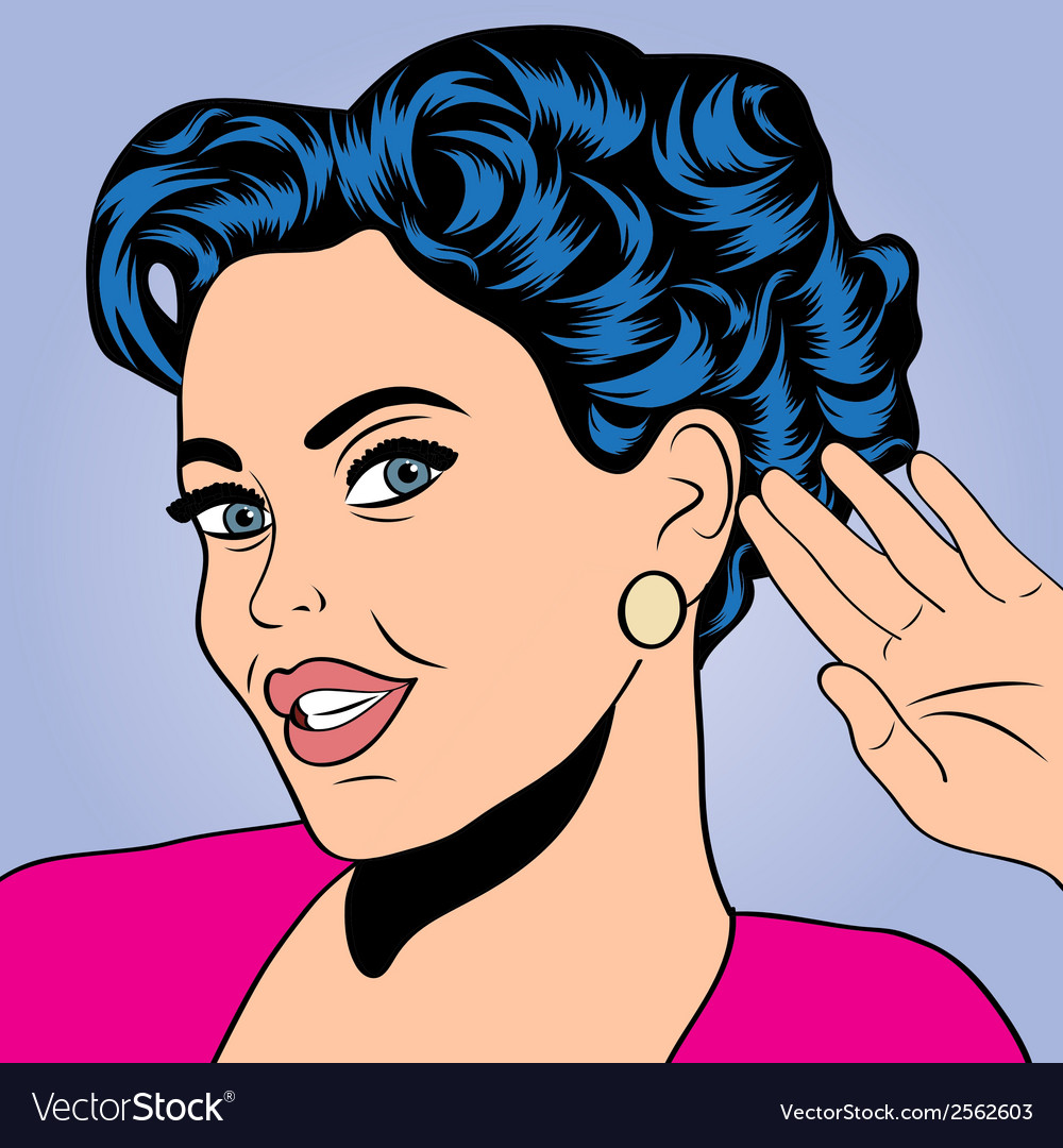 Pop art retro woman in comics style vector | Price: 1 Credit (USD $1)