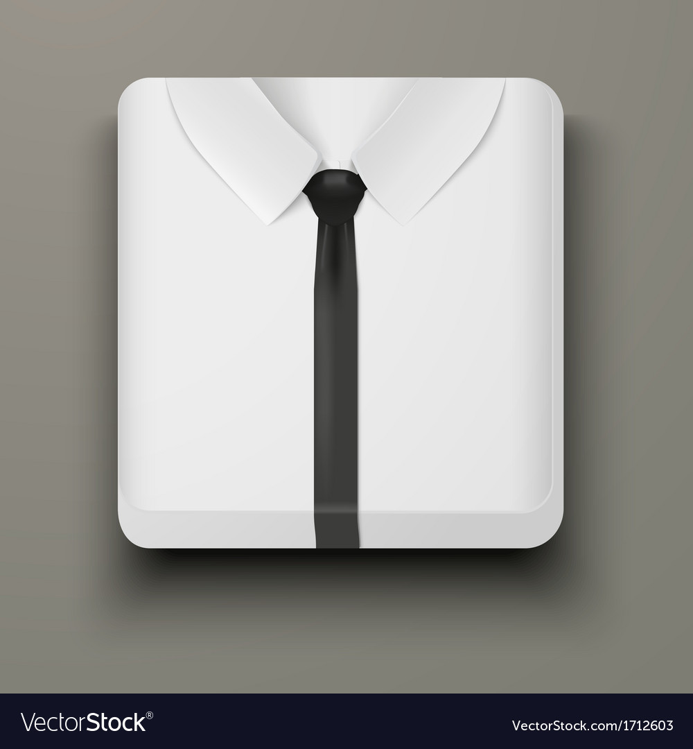 Premium icon white shirt and black tie vector | Price: 1 Credit (USD $1)