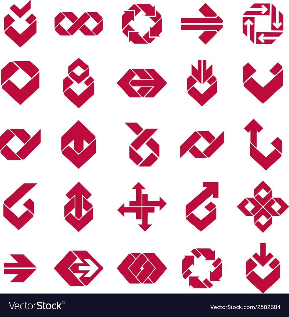 Abstract creative business icons collection vector | Price: 1 Credit (USD $1)