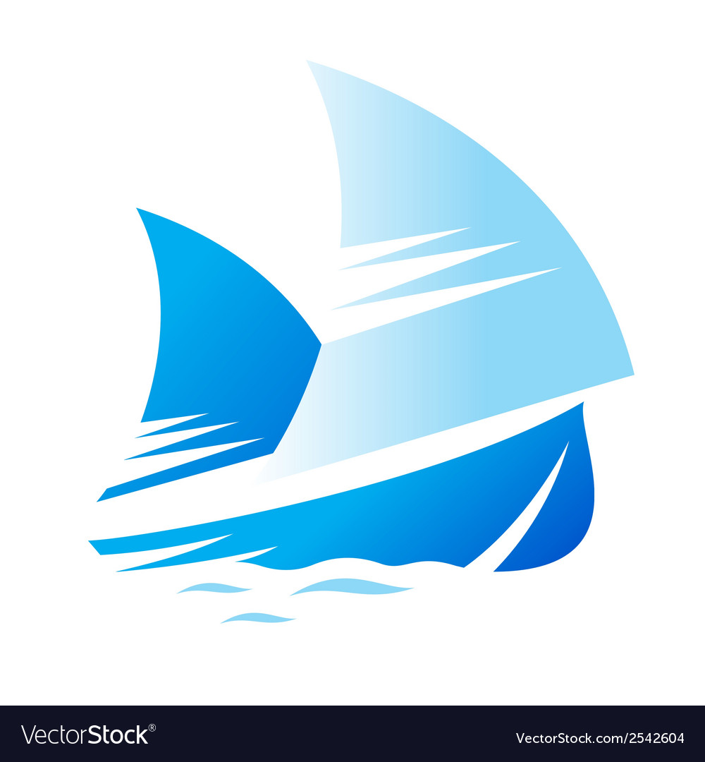 Blue ship sign vector | Price: 1 Credit (USD $1)
