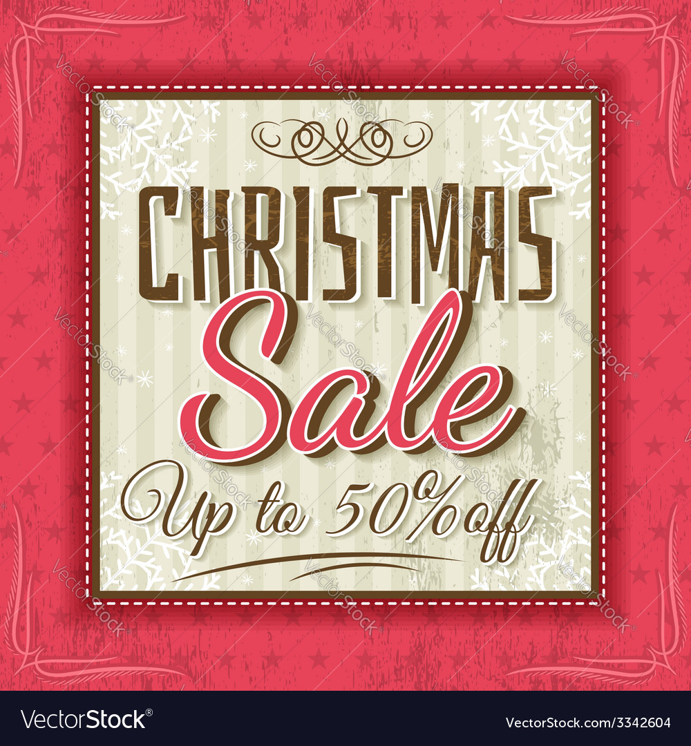 Color christmas background and sale offer vector | Price: 1 Credit (USD $1)