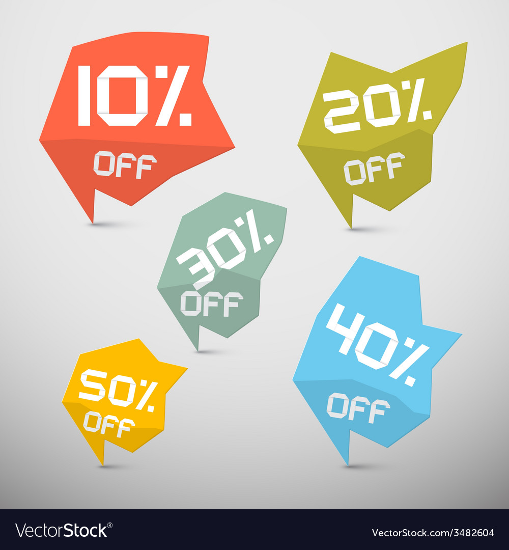 Discount sale tags set vector | Price: 1 Credit (USD $1)