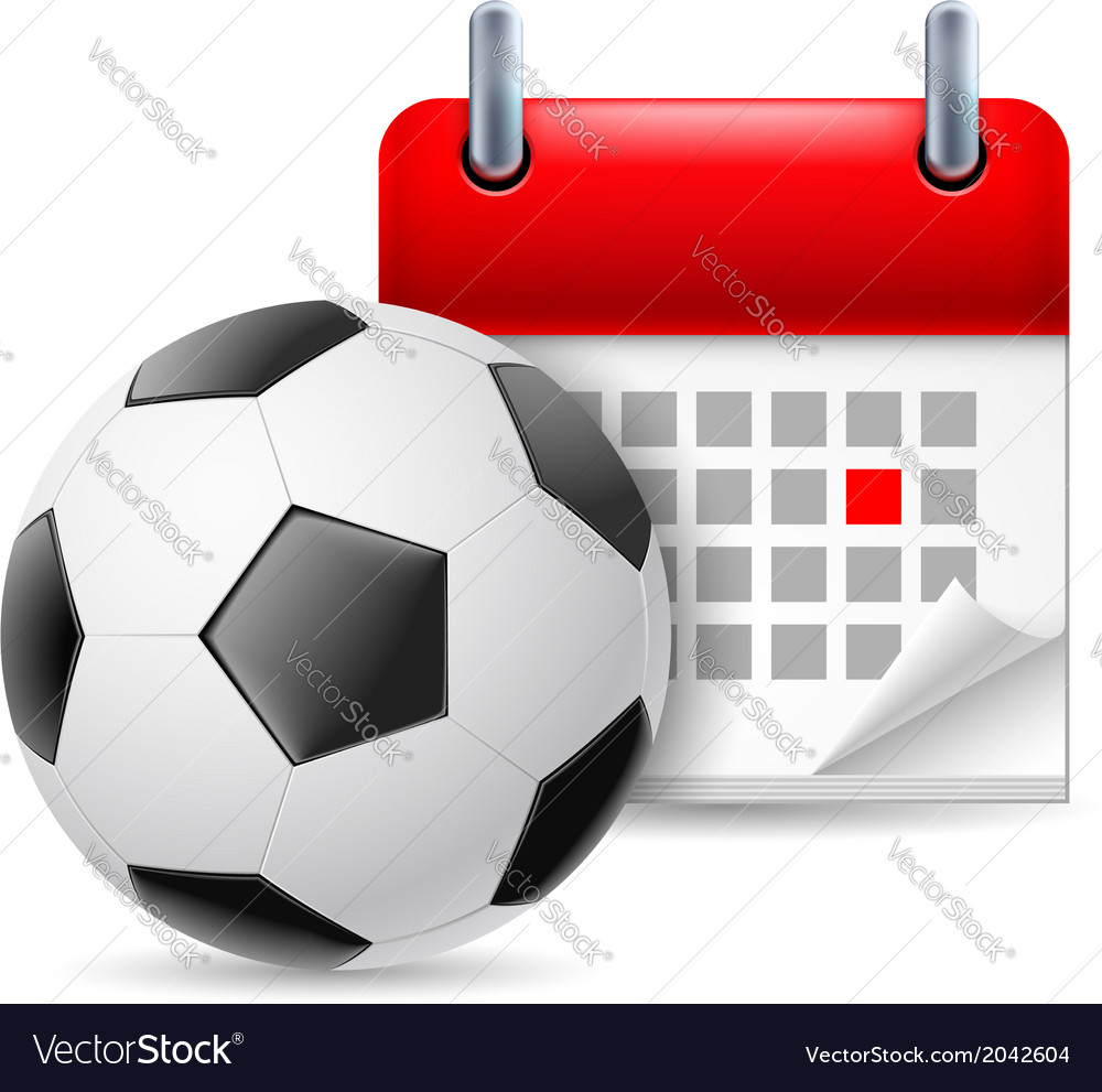 Football and calendar vector | Price: 1 Credit (USD $1)
