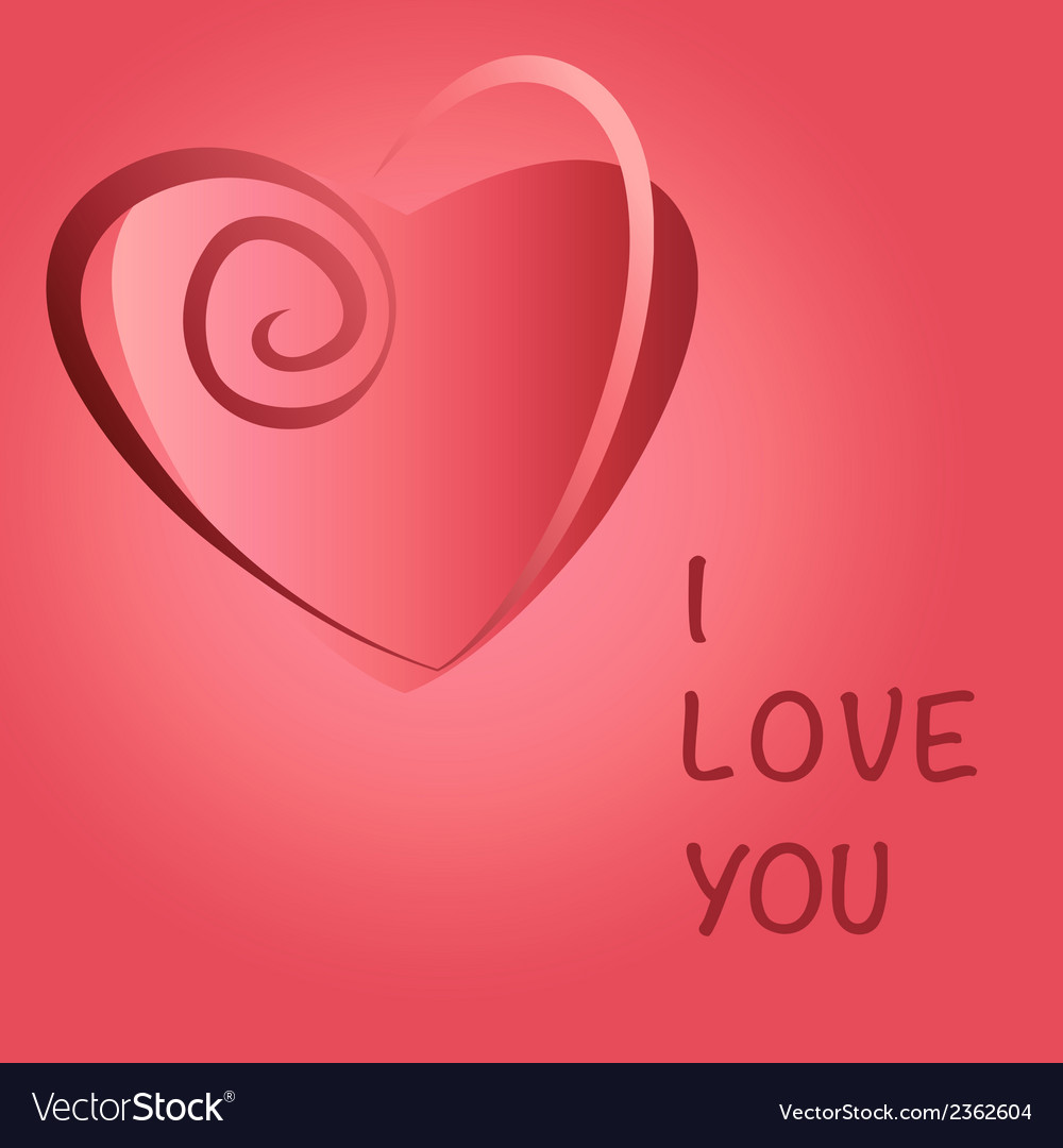 Heart love copy vector | Price: 1 Credit (USD $1)
