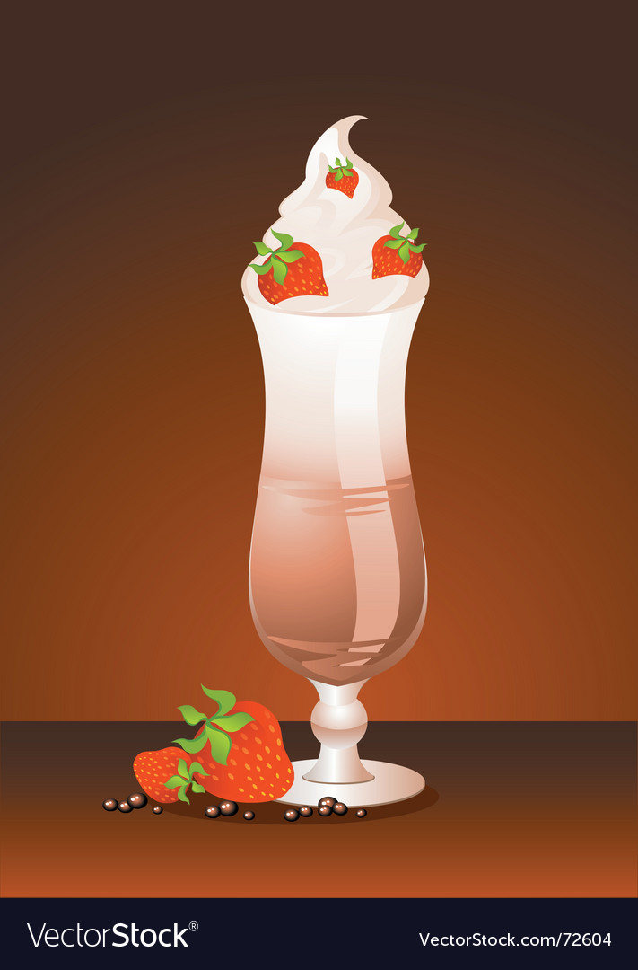 Iced cream sunday vector | Price: 1 Credit (USD $1)