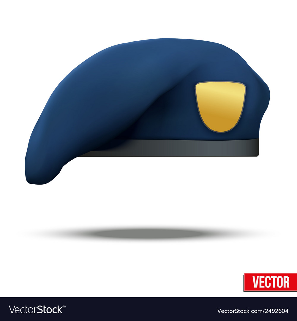 Military blue beret navy special forces vector | Price: 1 Credit (USD $1)
