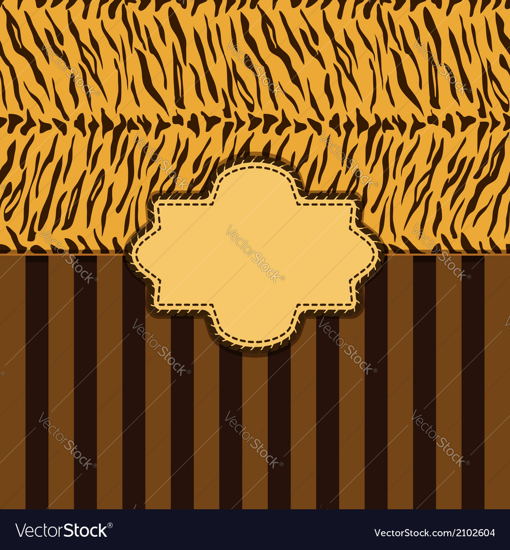 Tiger skin background vector | Price: 1 Credit (USD $1)