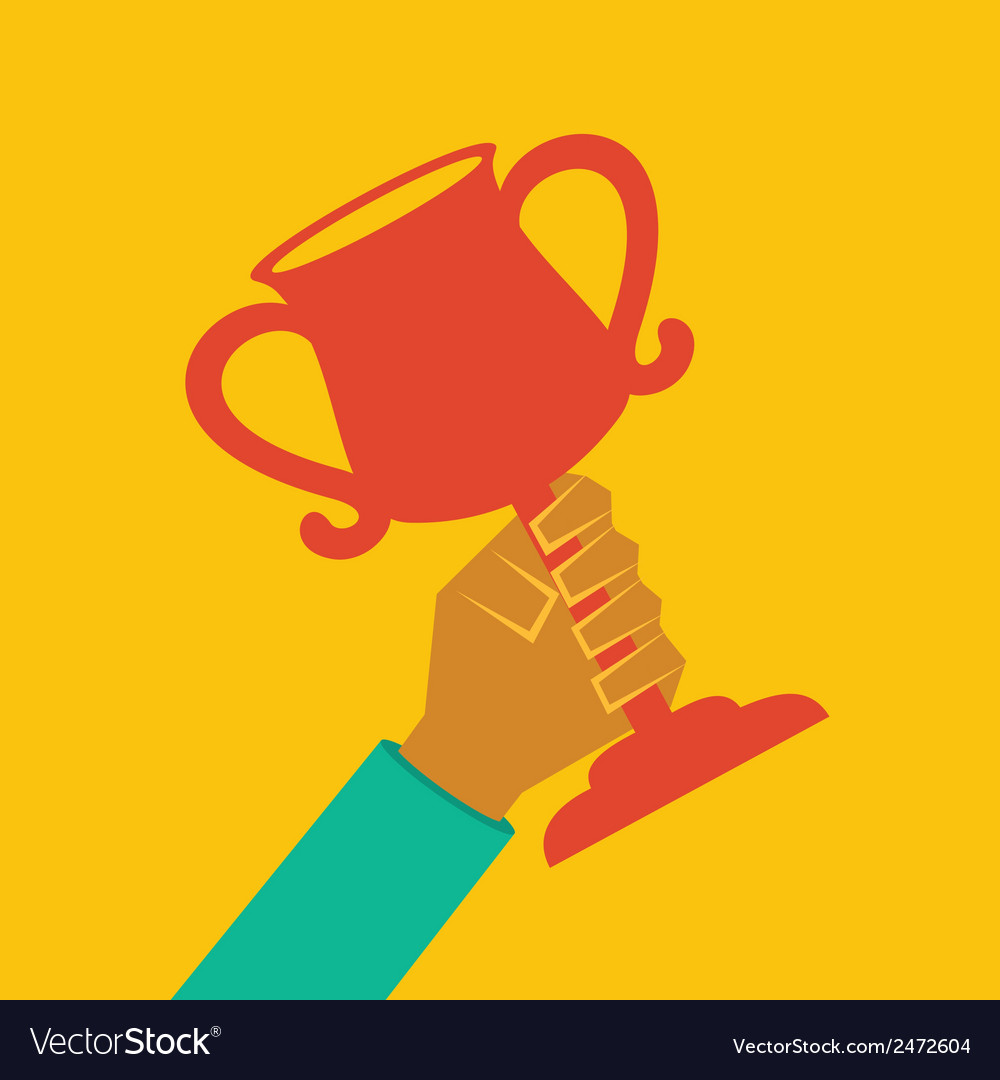 Trophy in hand stock vector | Price: 1 Credit (USD $1)