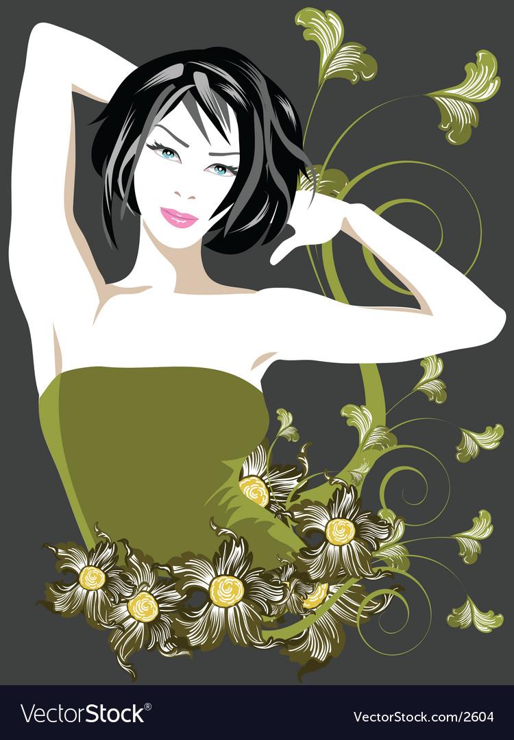 Vintage floral vector | Price: 3 Credit (USD $3)
