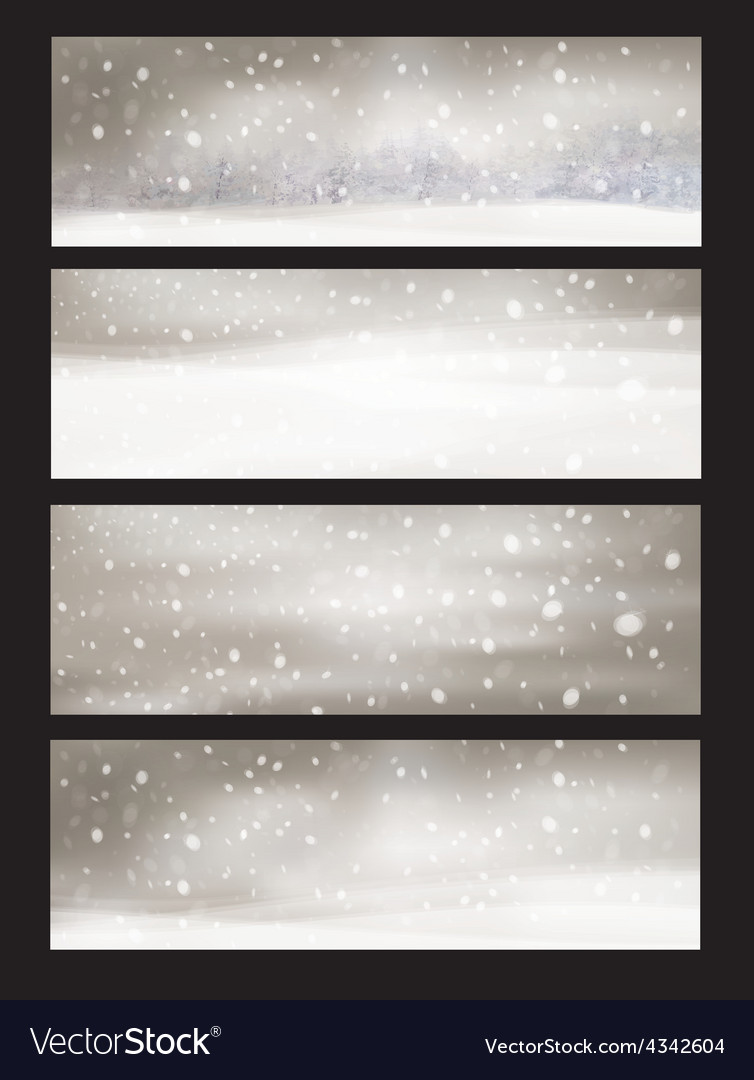Winter snowfall vector | Price: 1 Credit (USD $1)