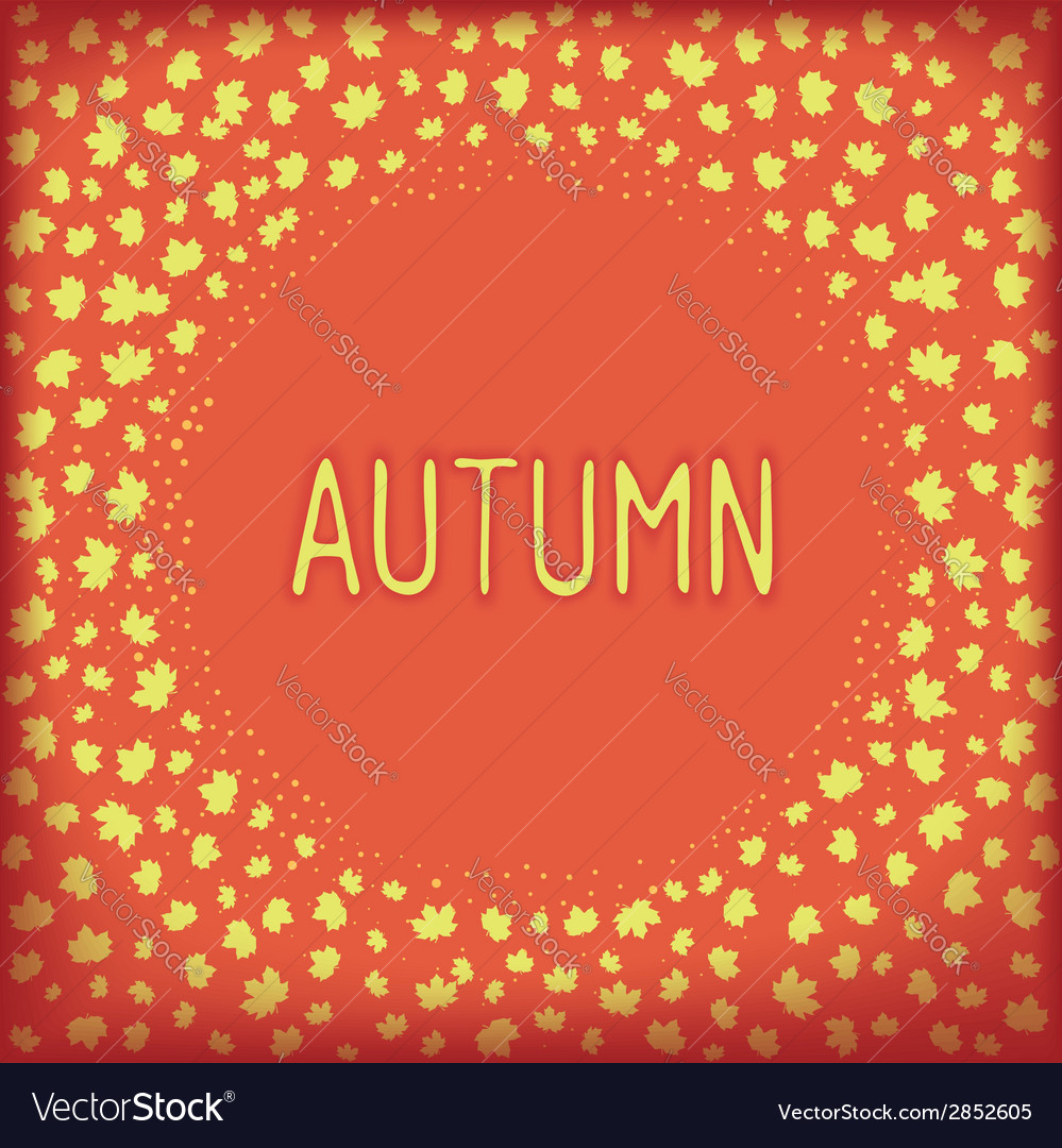 Abstract autumn frame vector | Price: 1 Credit (USD $1)
