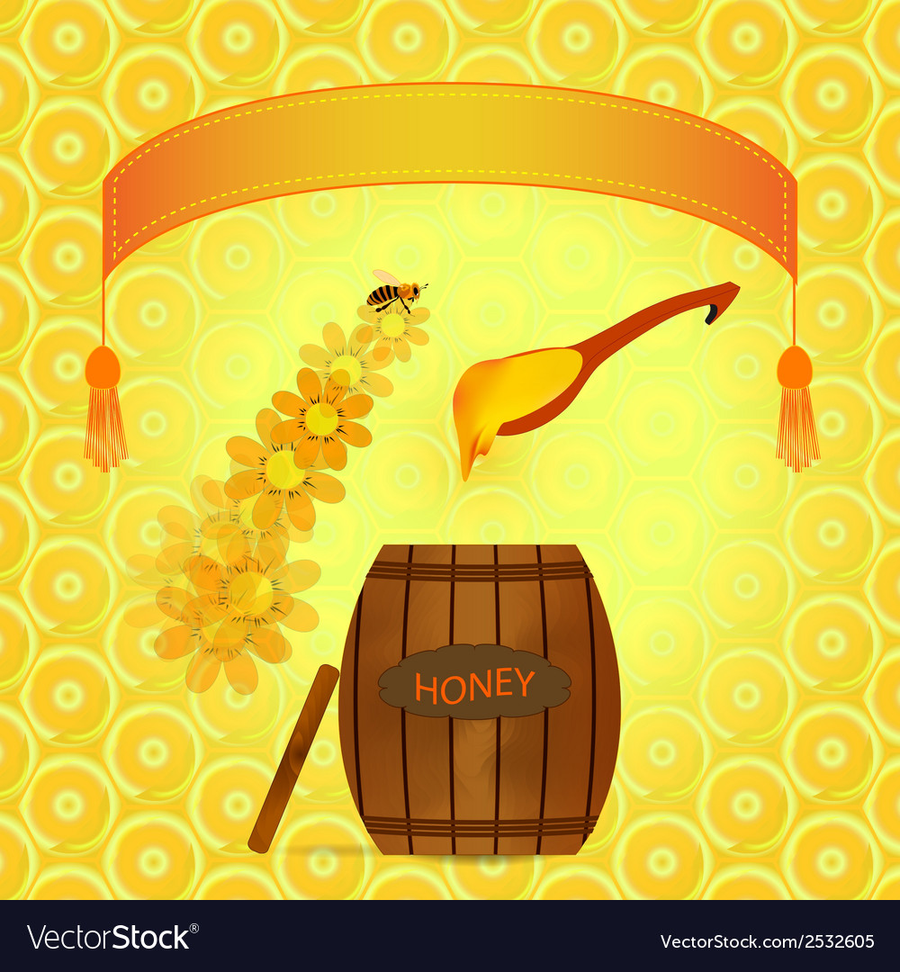 Barrel of honey vector | Price: 1 Credit (USD $1)