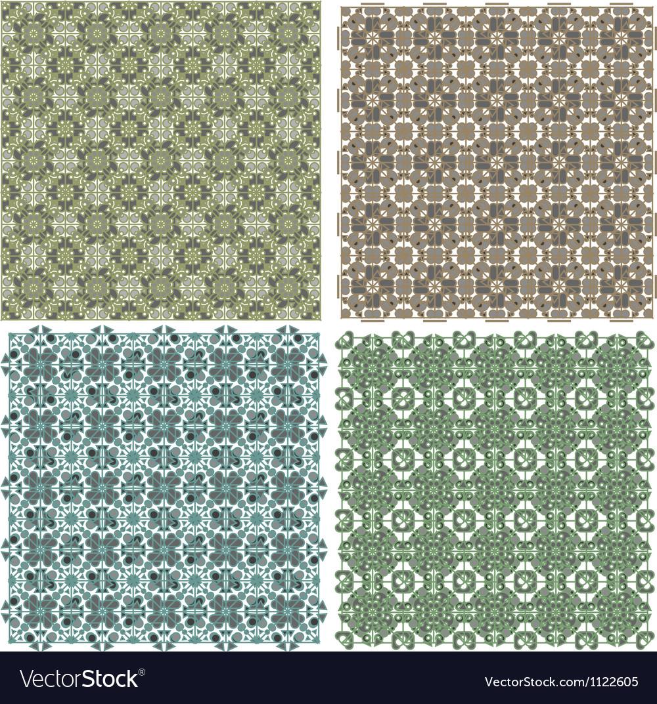 Big vintage plaid patterns set background vector | Price: 1 Credit (USD $1)