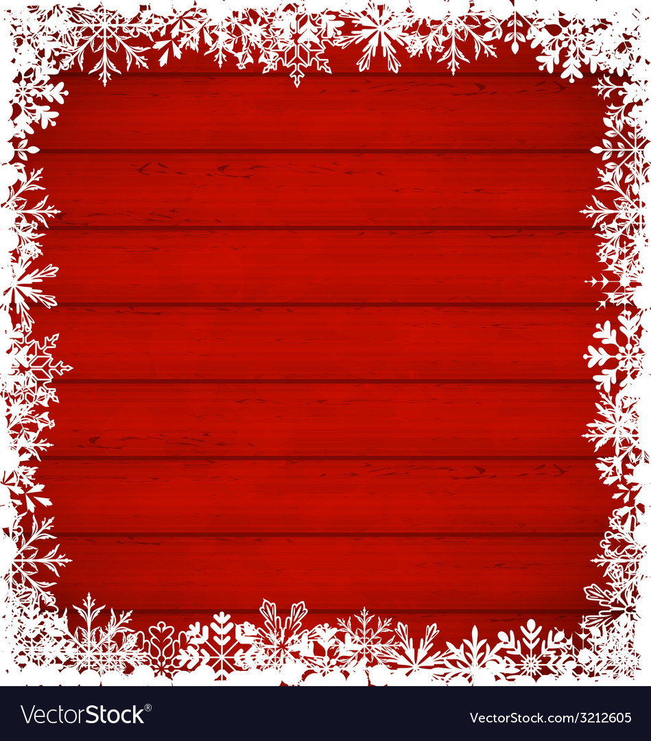 Christmas snowflakes border on wooden background - vector | Price: 1 Credit (USD $1)