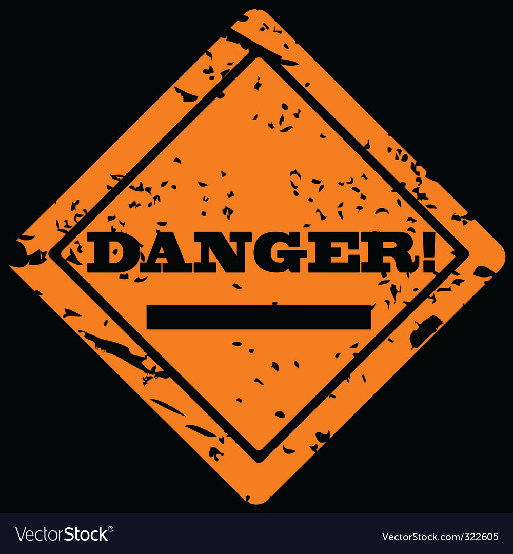 Danger grunge label vector | Price: 1 Credit (USD $1)