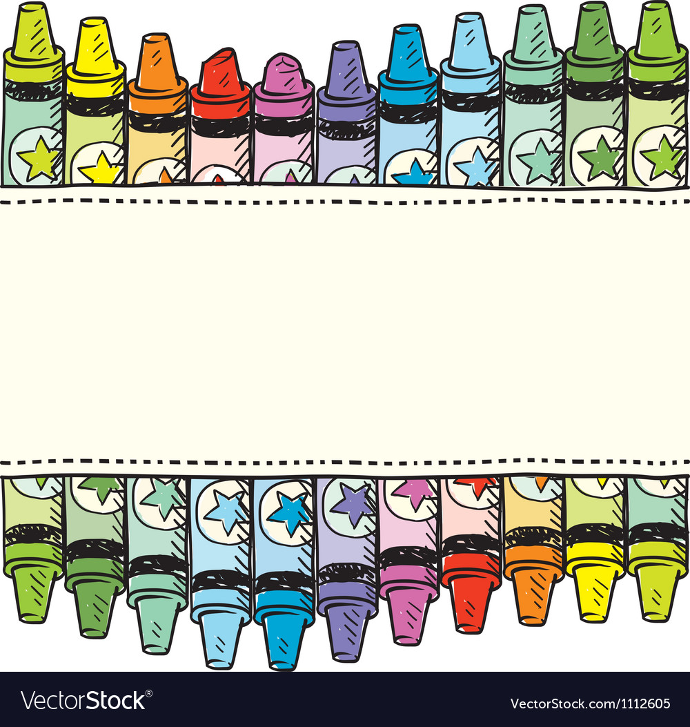 Doodle crayon label vector | Price: 1 Credit (USD $1)