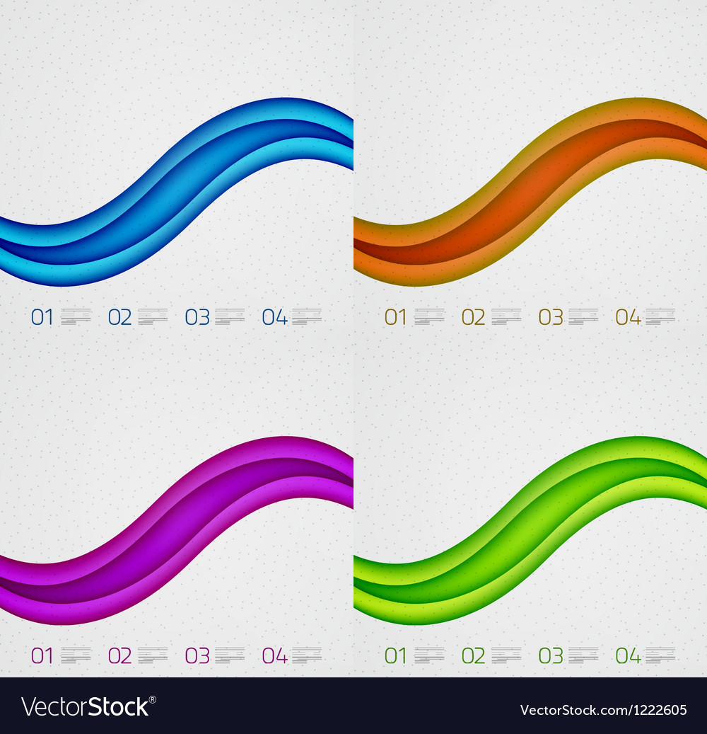 Flowing lines modern design templates vector | Price: 1 Credit (USD $1)
