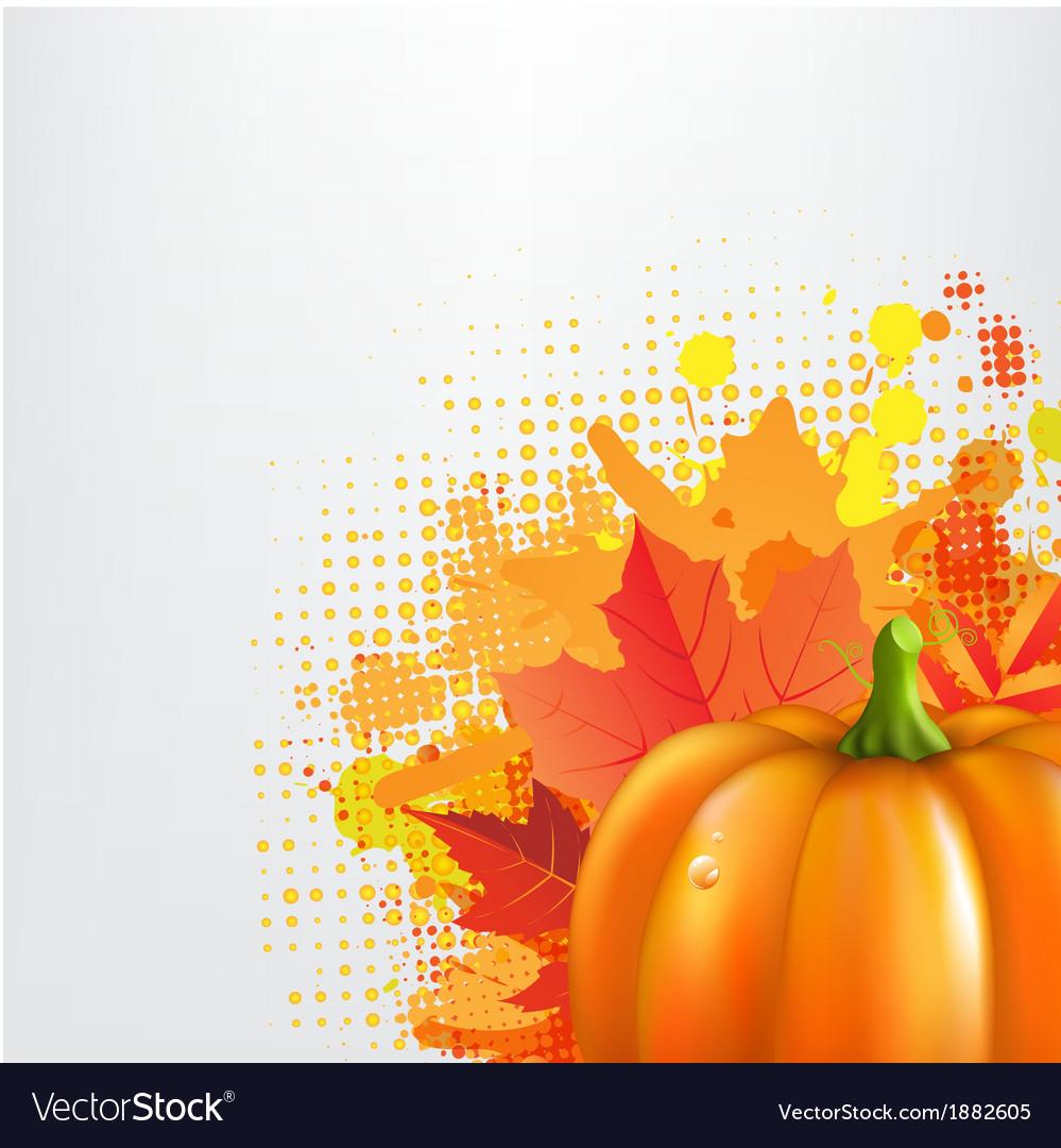 Grunge background with orange pumpkin vector | Price: 1 Credit (USD $1)