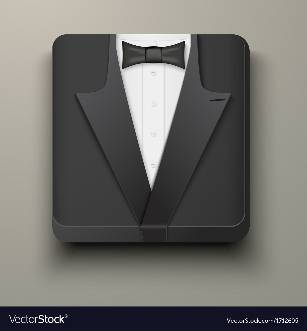 Premium icon tuxedo and bow-tie vector | Price: 1 Credit (USD $1)