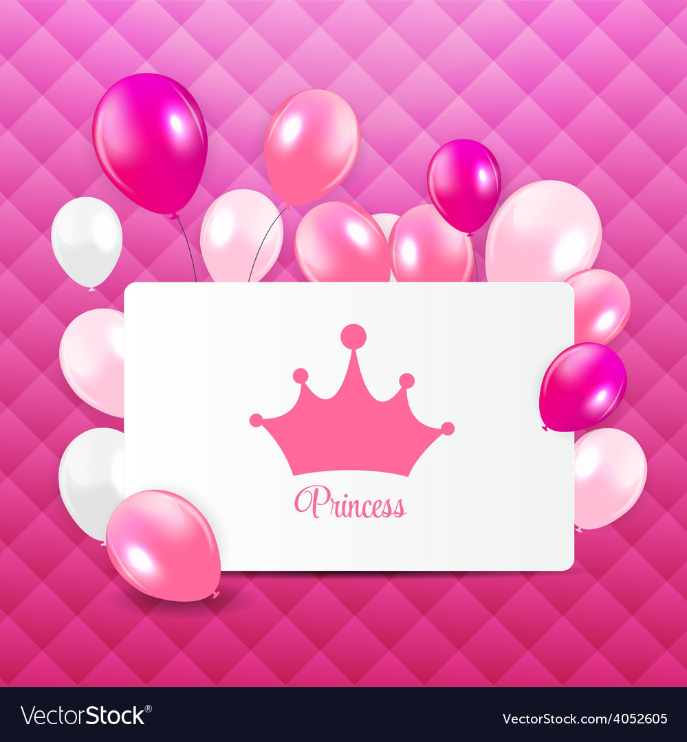 Princess background with crown vector | Price: 1 Credit (USD $1)