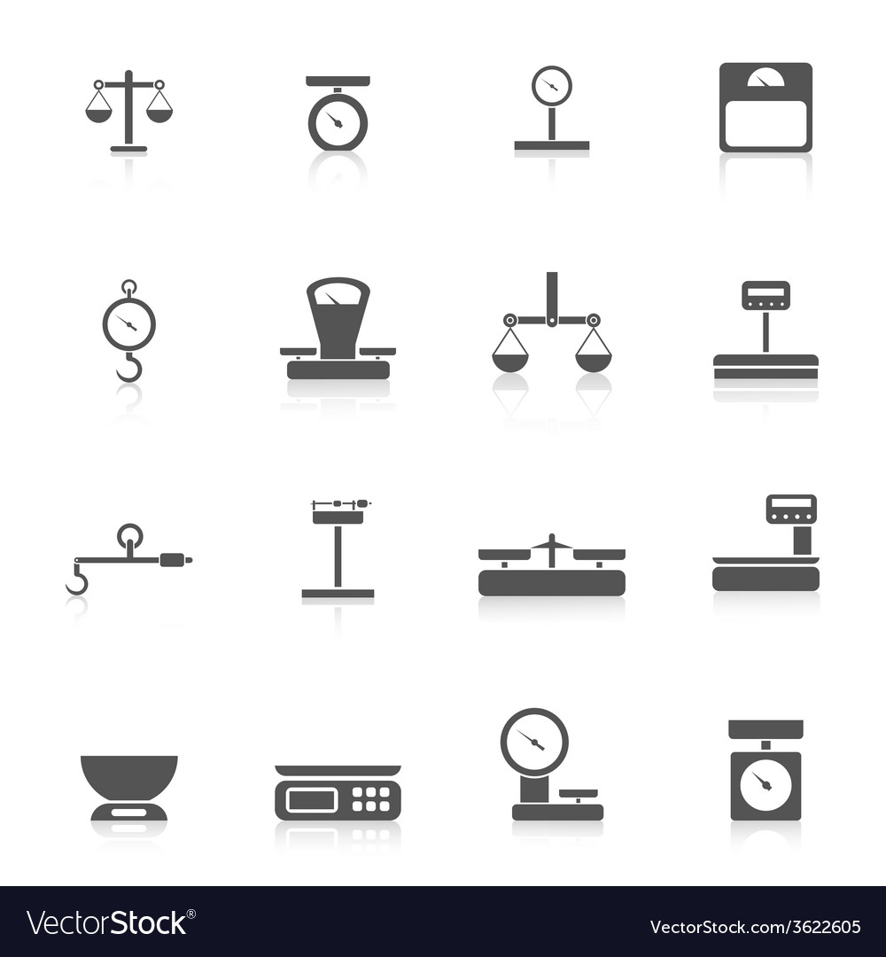 Scales weight icon vector | Price: 1 Credit (USD $1)