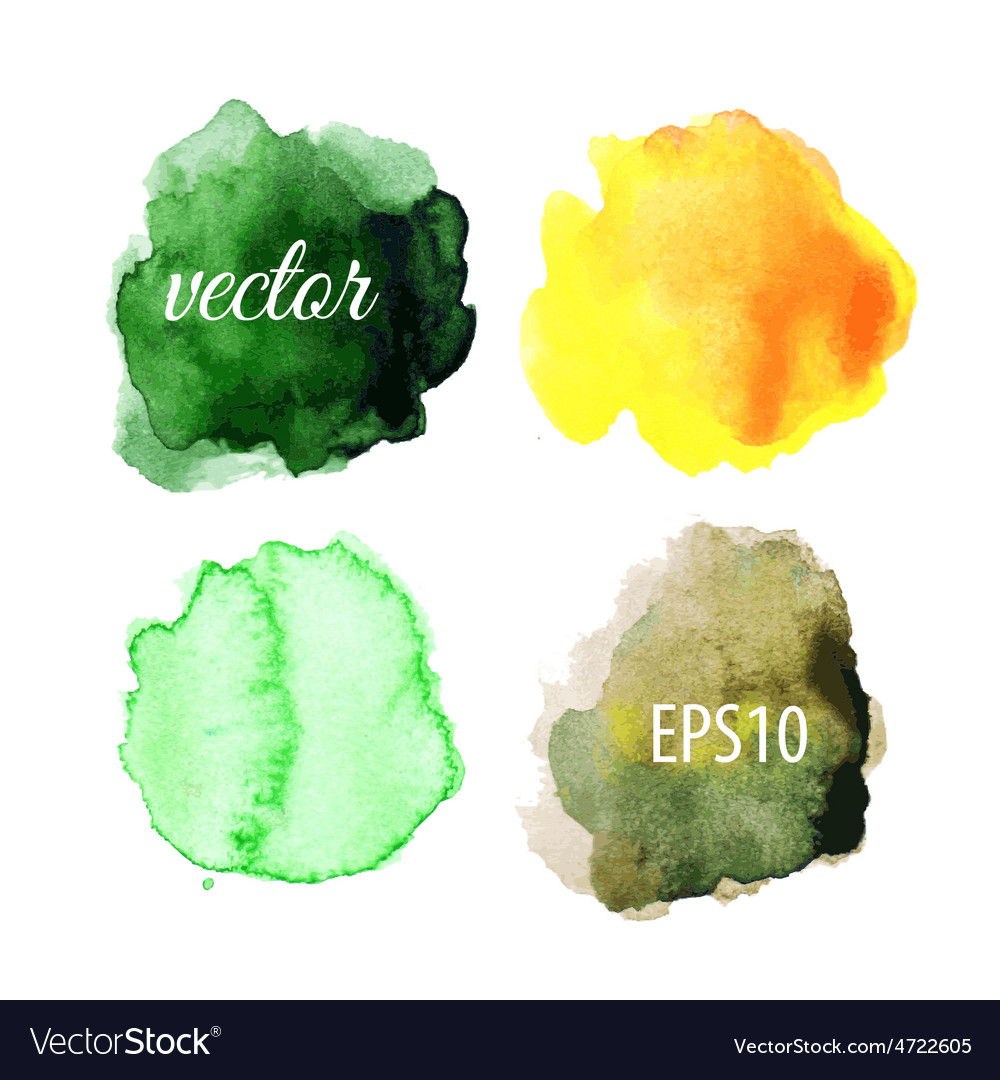 Watercolor blots isolated on white background vector   Price: 1 Credit (USD $1)
