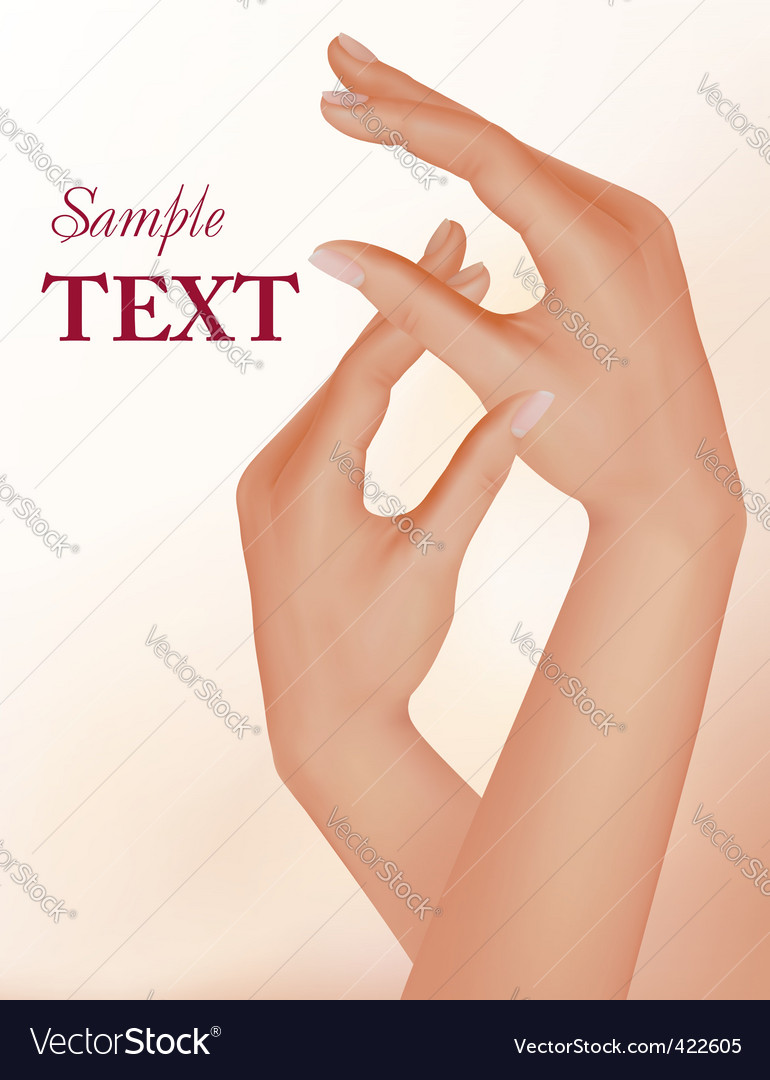 Woman and manicure vector | Price: 3 Credit (USD $3)