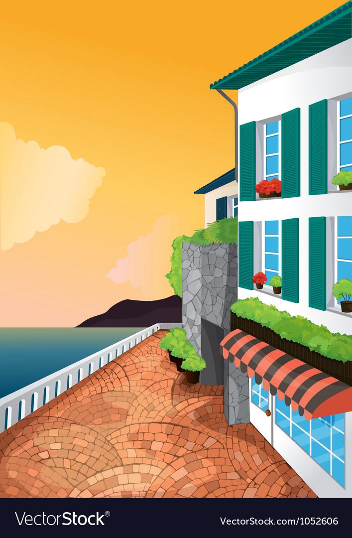 Appartment corner view vector   Price: 1 Credit (USD $1)