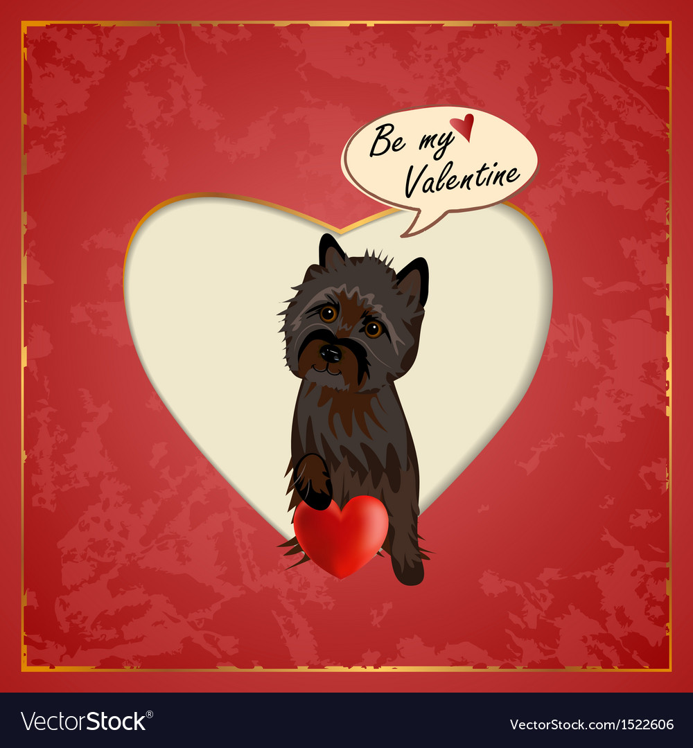 Cairn valentine vector | Price: 3 Credit (USD $3)