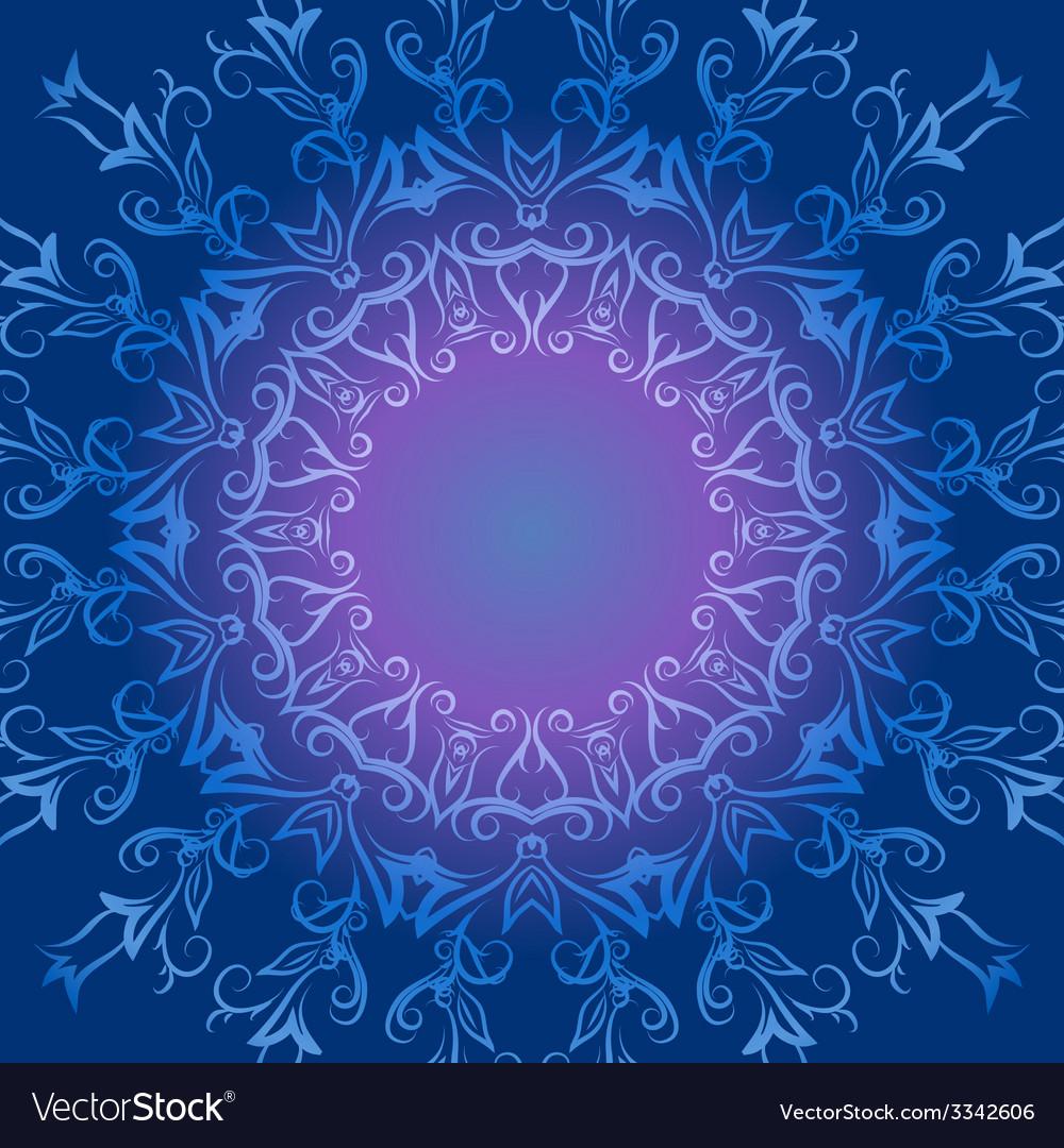 Circular ornament in blue tones vector | Price: 1 Credit (USD $1)