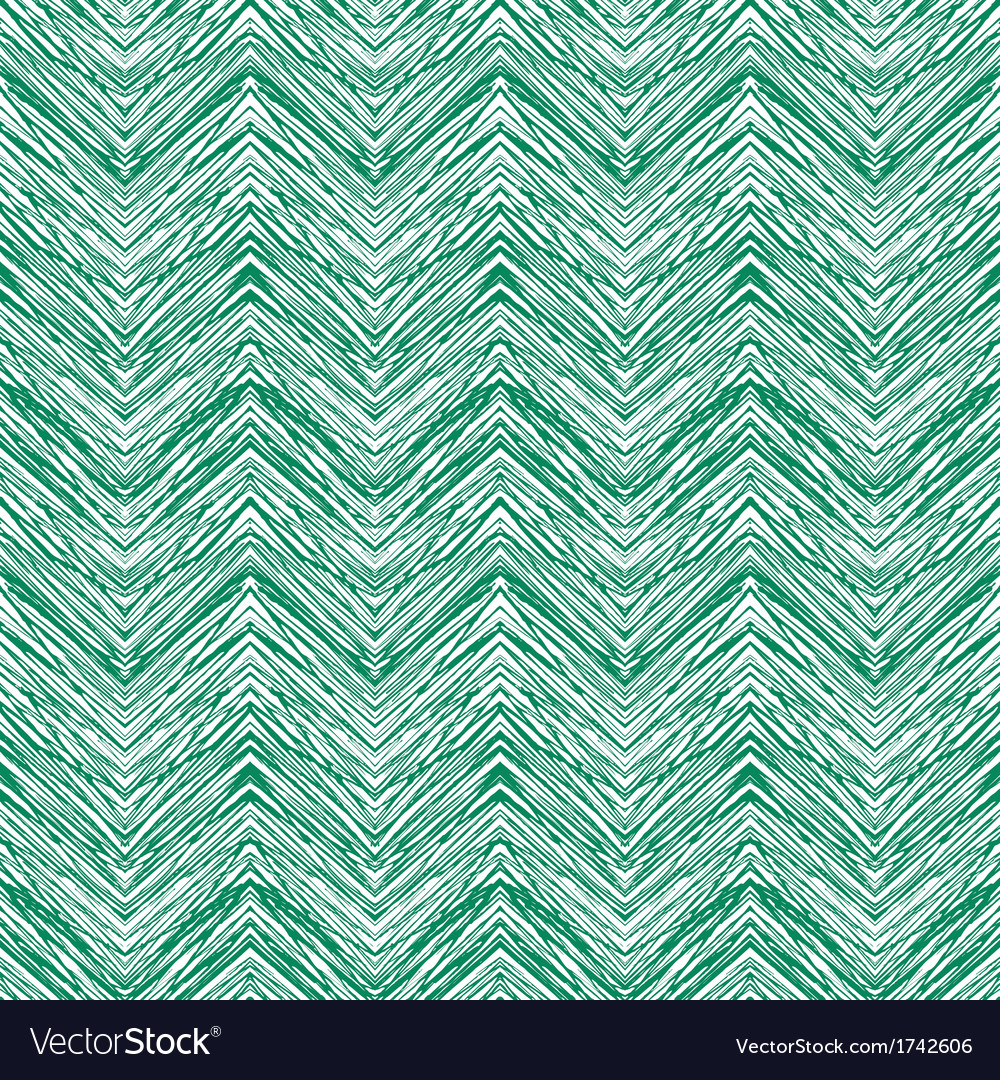 Emerald green hand drawn zigzag pattern vector | Price: 1 Credit (USD $1)