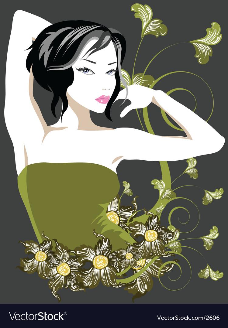 Floral vintage vector   Price: 3 Credit (USD $3)