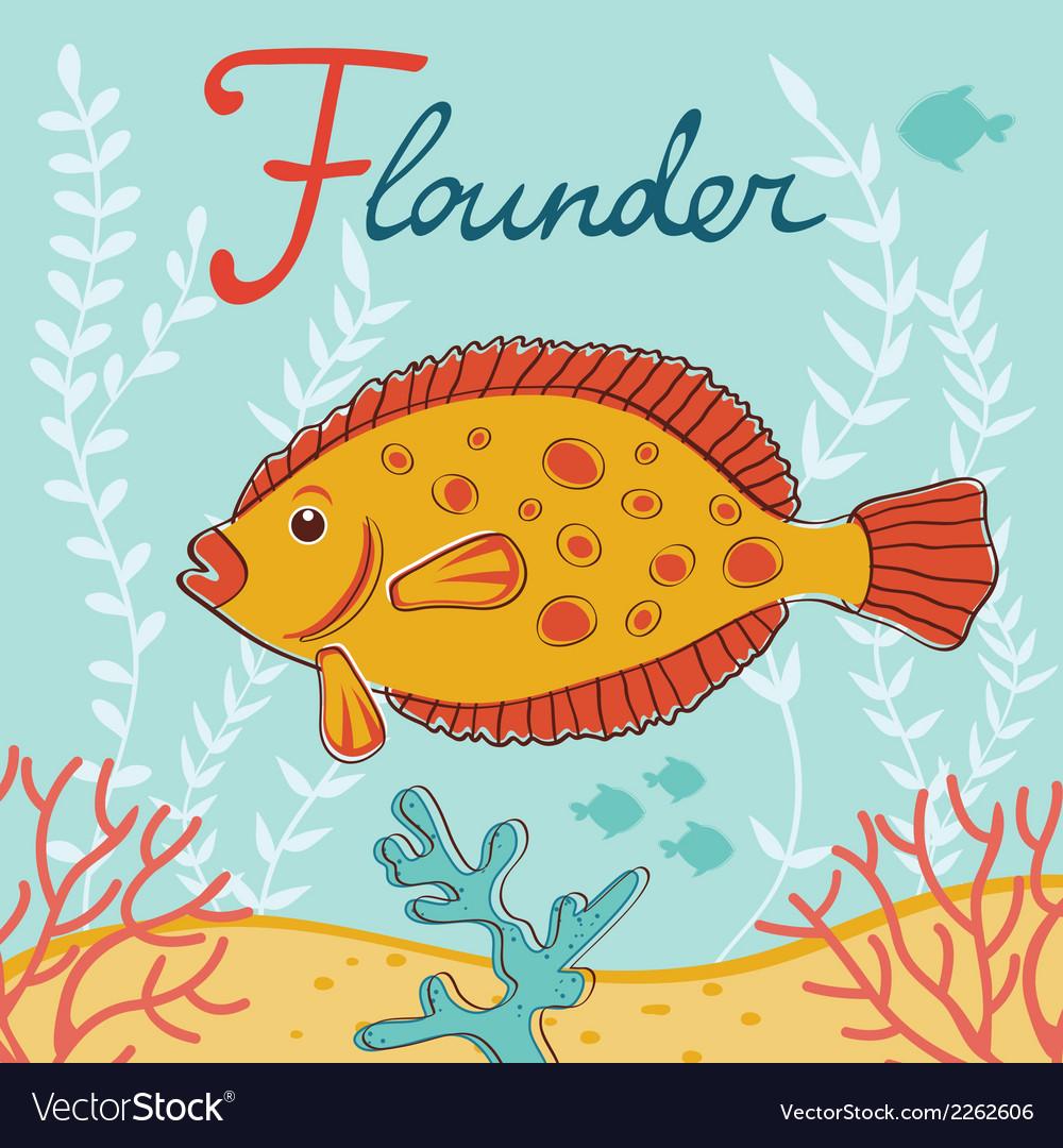 Flounder vector | Price: 1 Credit (USD $1)