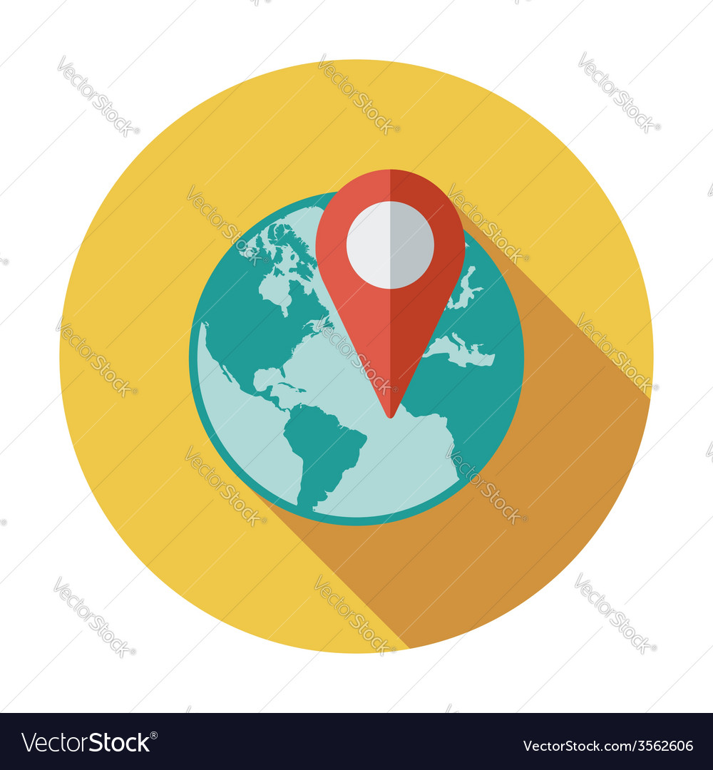 Globe with pin vector | Price: 1 Credit (USD $1)
