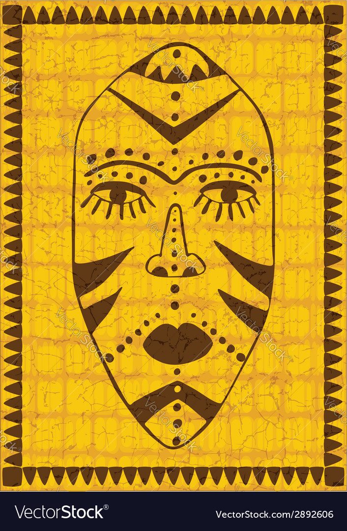 Golden african mask vector | Price: 1 Credit (USD $1)