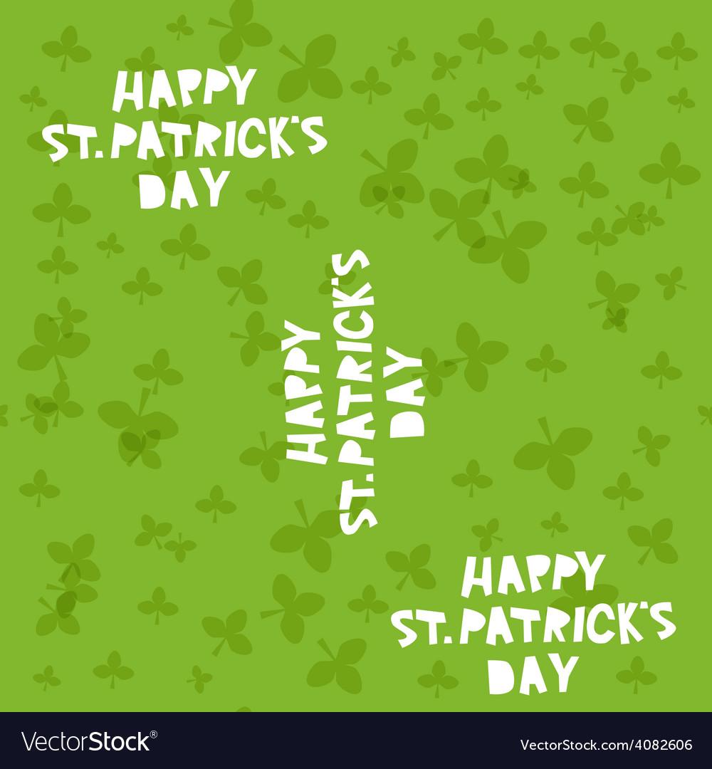 Happy st patricks day seamless pattern vector | Price: 1 Credit (USD $1)