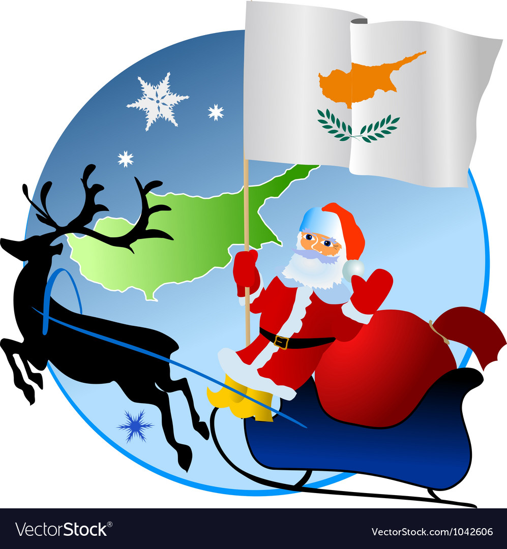 Merry christmas cyprus vector | Price: 1 Credit (USD $1)