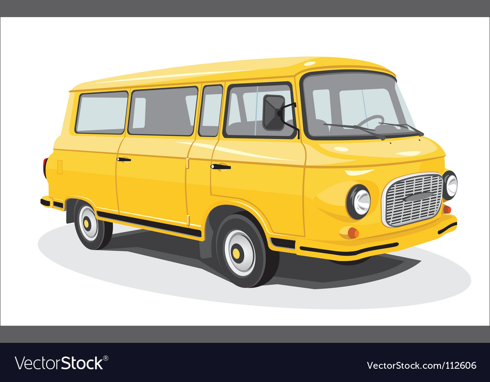 Retro bus vector | Price: 3 Credit (USD $3)