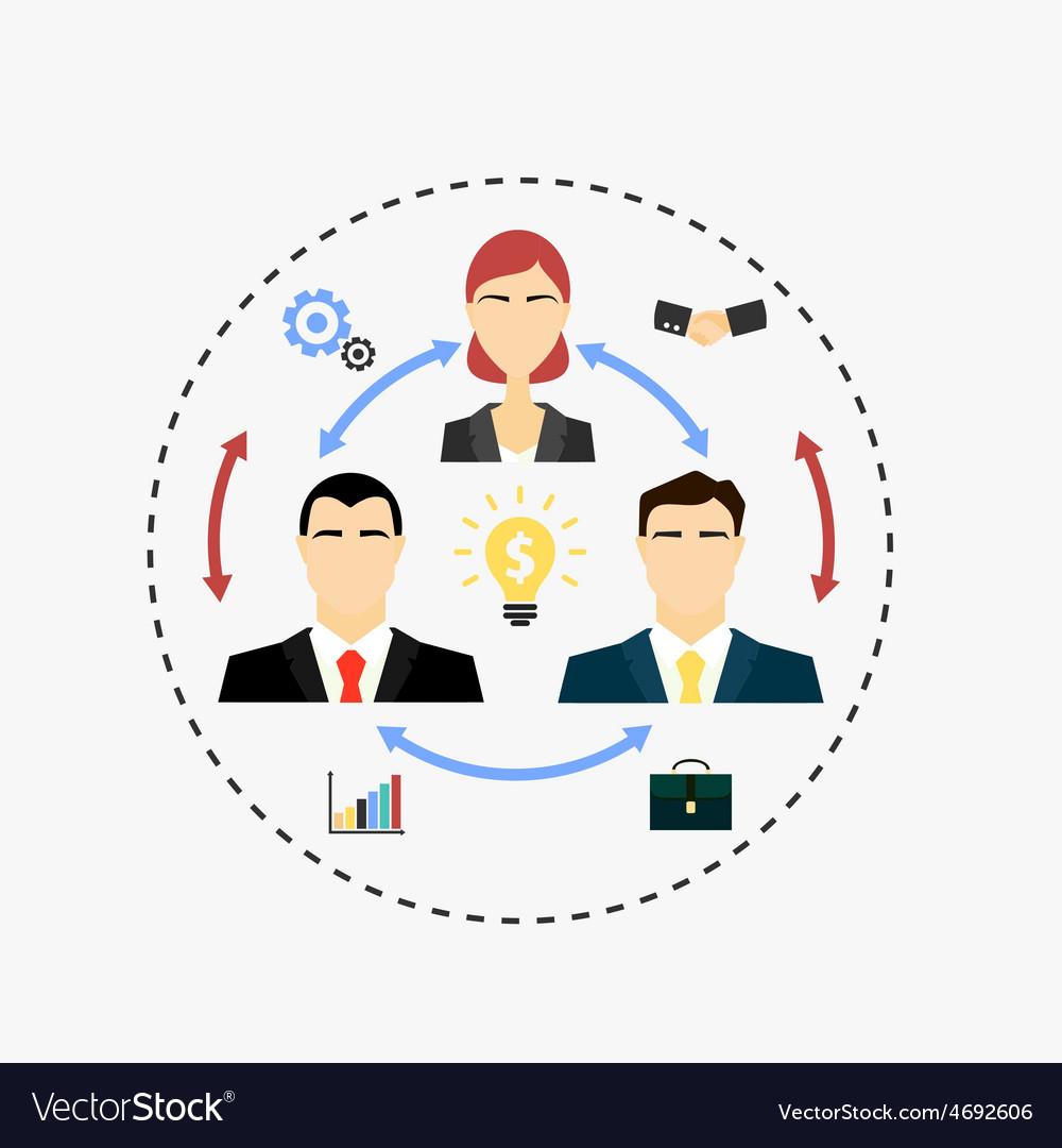 Team work vector | Price: 1 Credit (USD $1)
