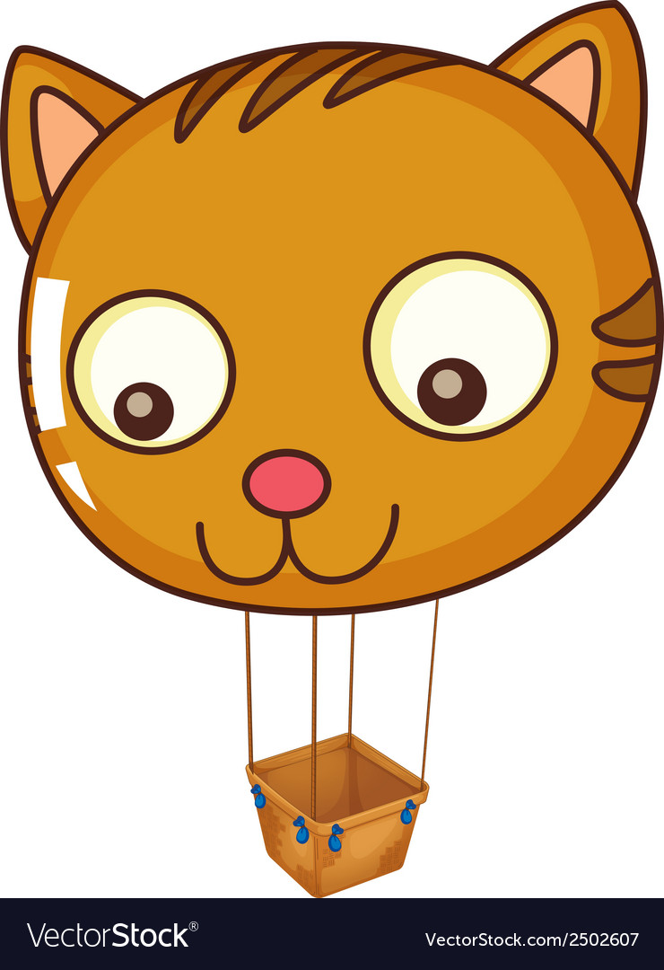 A big cat balloon vector | Price: 1 Credit (USD $1)