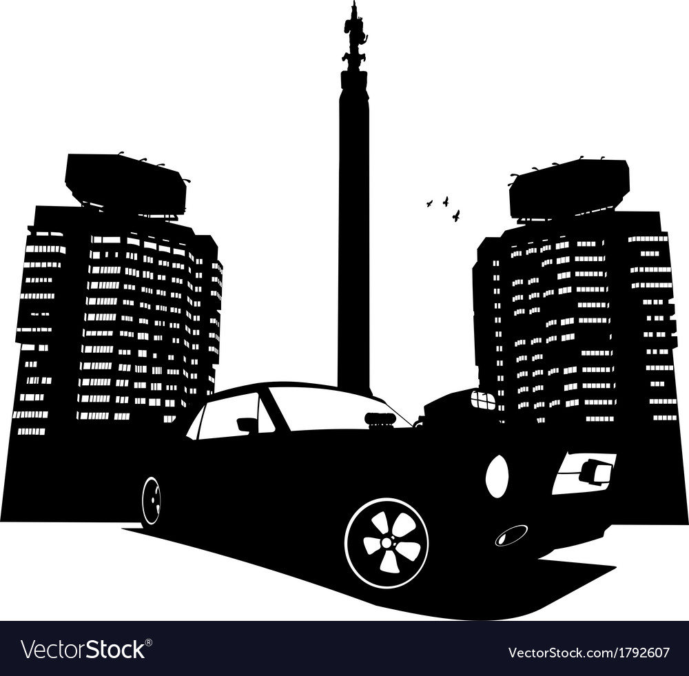 Almaty and car vector | Price: 1 Credit (USD $1)