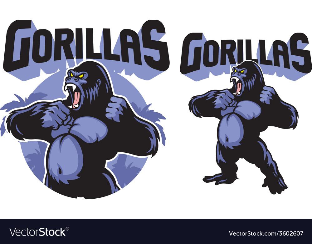 Big gorilla mascot vector   Price: 3 Credit (USD $3)