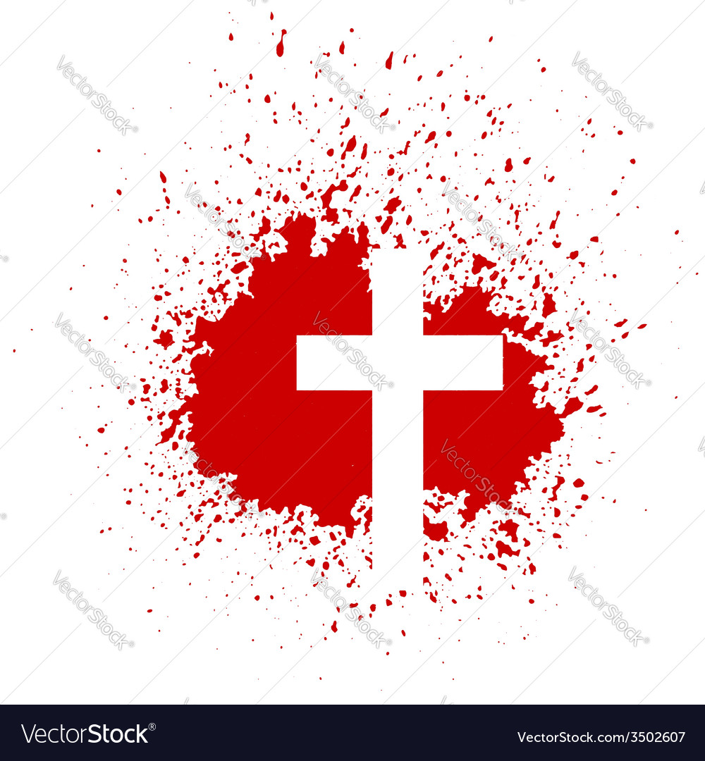 Bloody cross vector | Price: 1 Credit (USD $1)