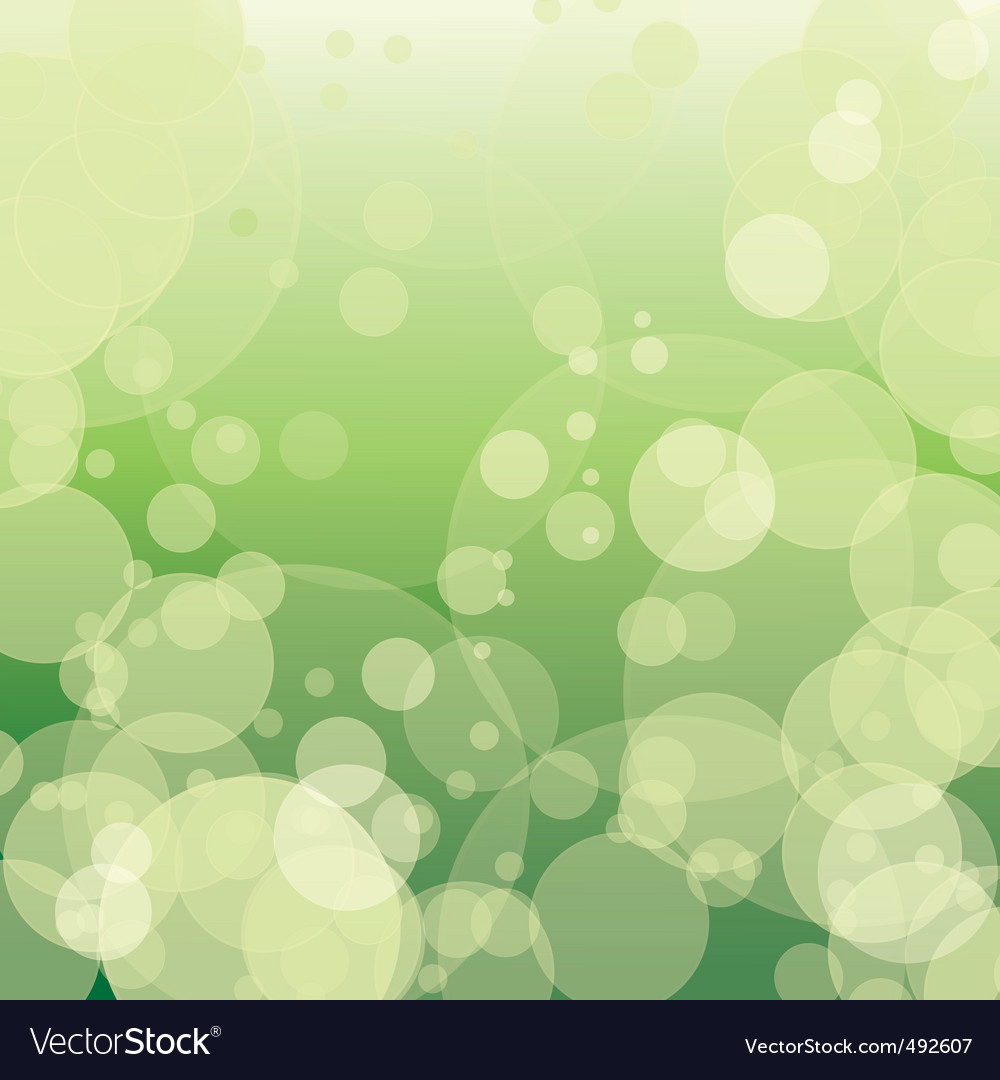 Colorful green bokeh with circles vector | Price: 1 Credit (USD $1)