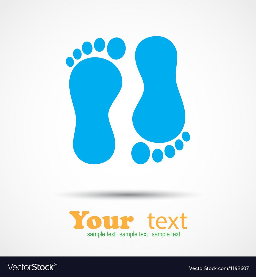 Foot imprint background vector | Price: 1 Credit (USD $1)