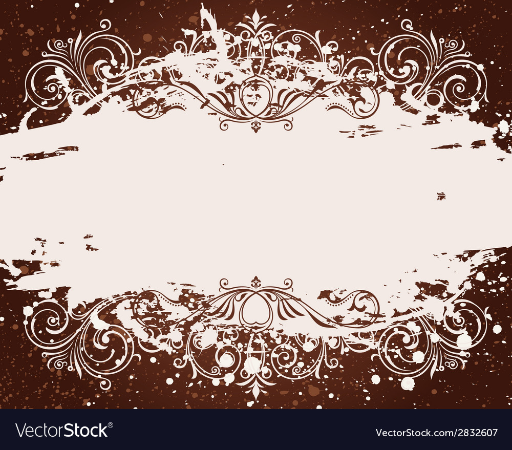 Grunge background for text decor with ornament and vector | Price: 1 Credit (USD $1)