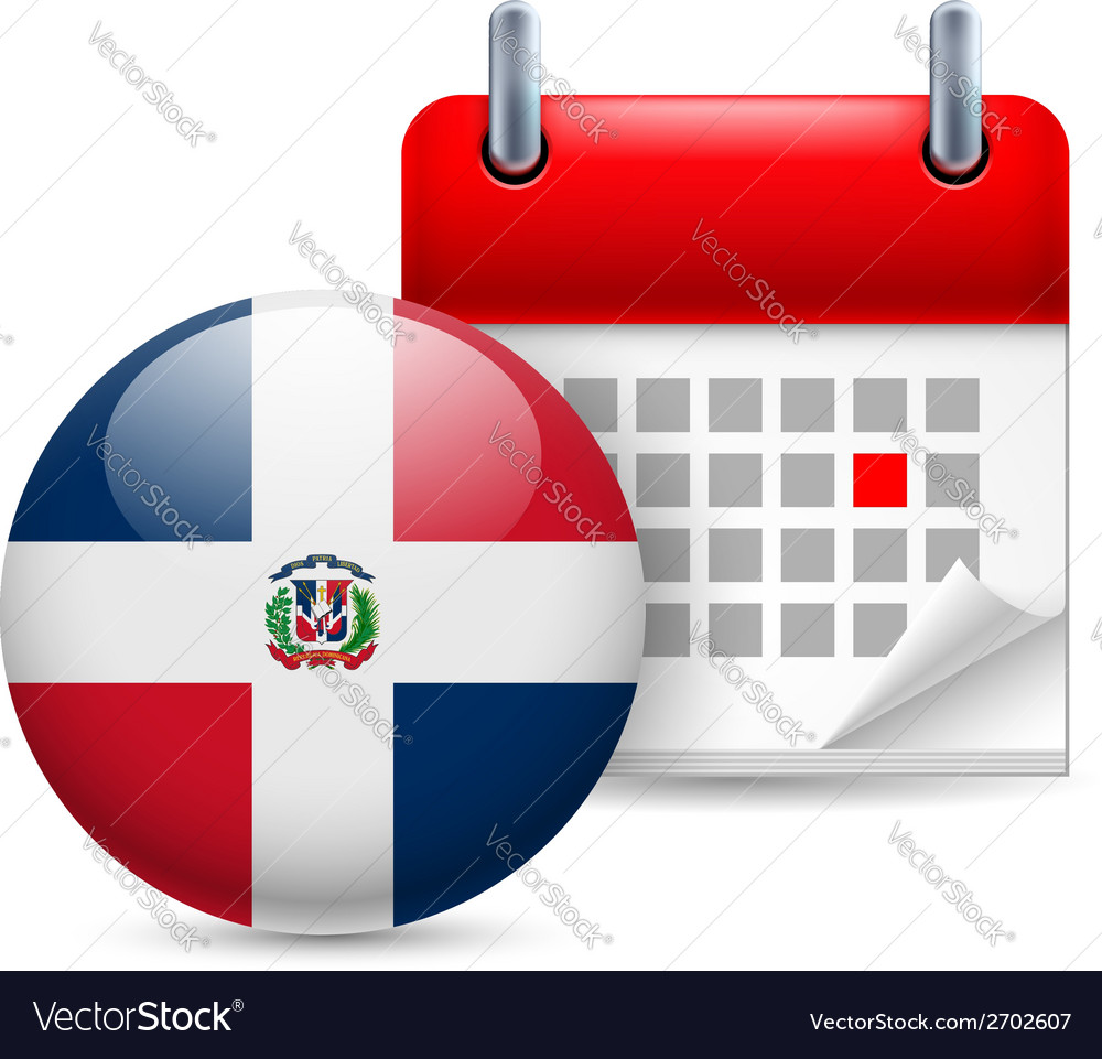 Icon of national day in dominican republic vector | Price: 1 Credit (USD $1)