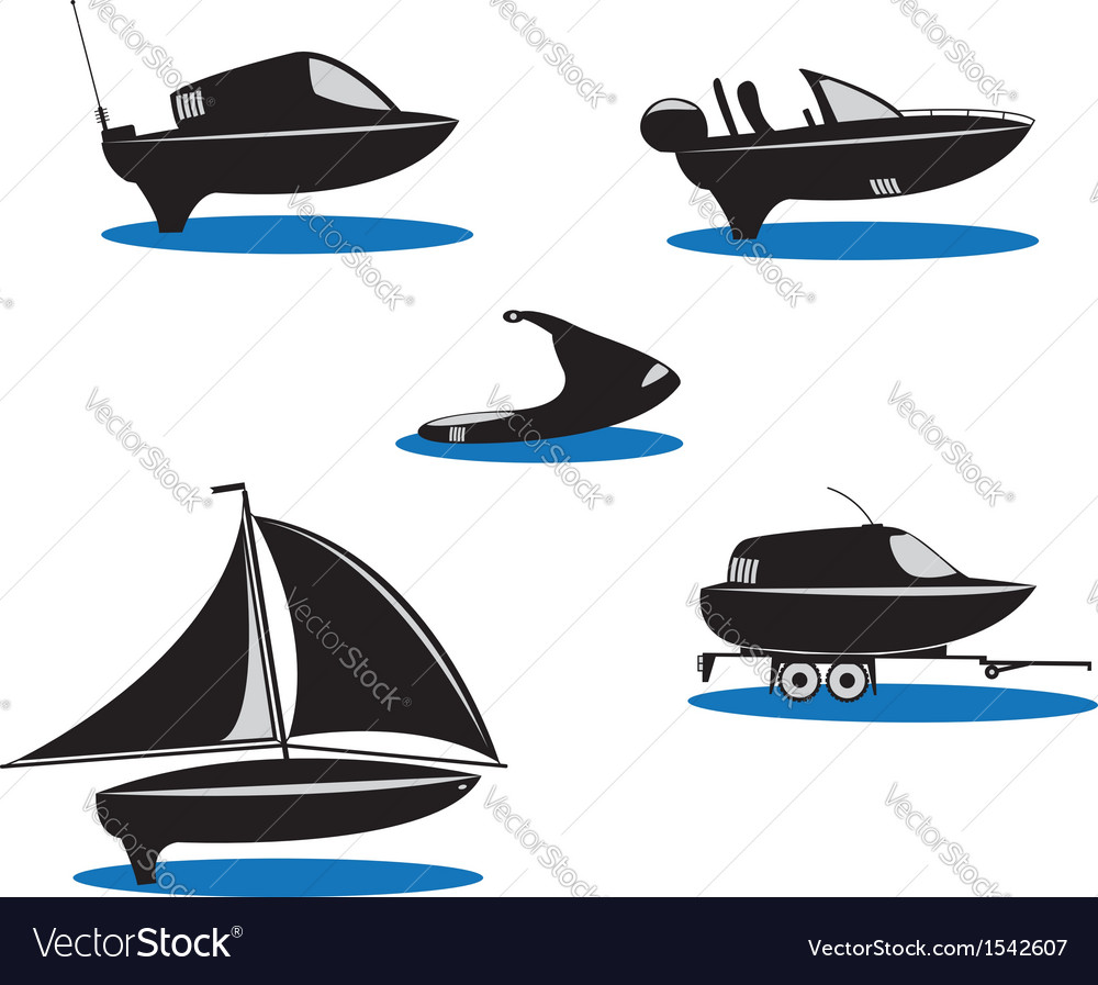 Isolated silhouette of boats vector | Price: 1 Credit (USD $1)