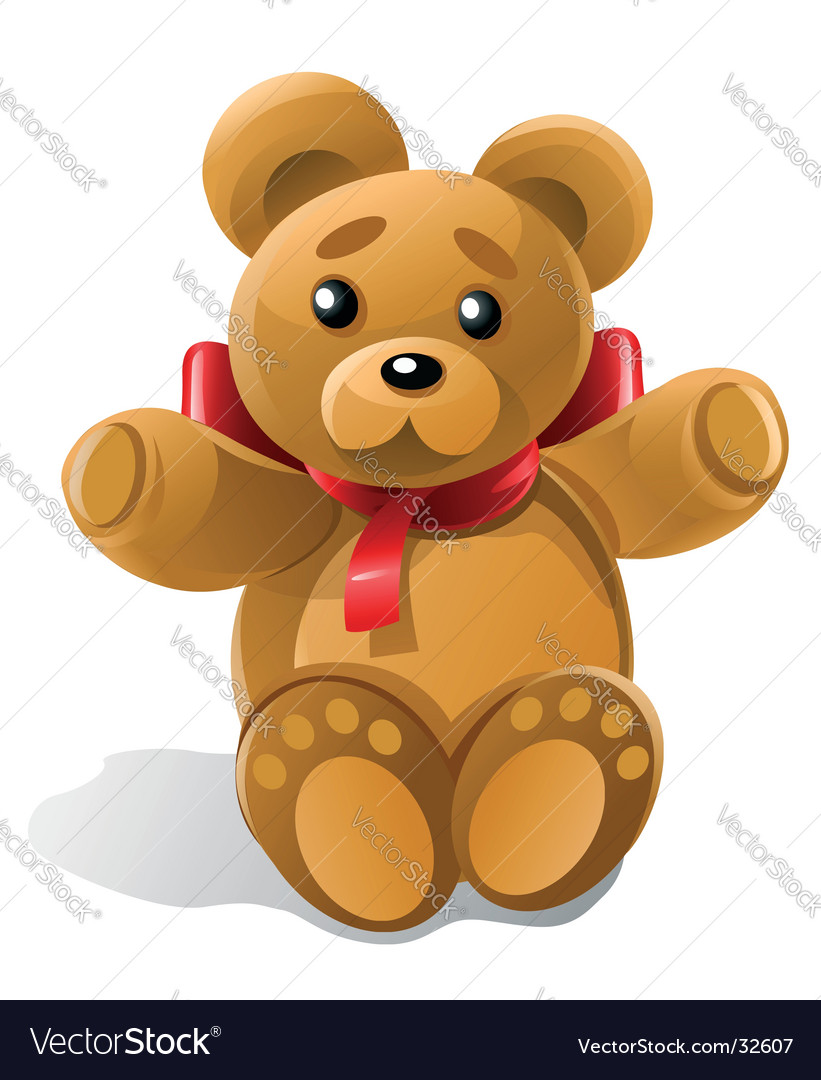 Little bear toy gift vector | Price: 1 Credit (USD $1)